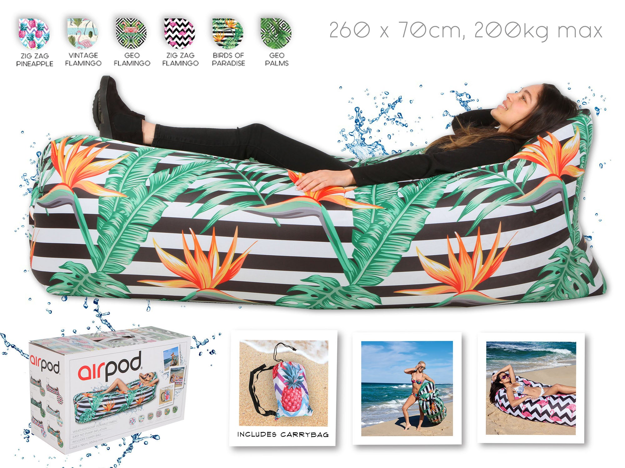 Beach Lounges. Assorted designs - Chachi's Bay - kids rashies - kids swimwear - kids swim shoes - round towels - beach towels