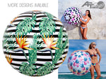 Jumbo Beach Balls. Assorted Designs - Chachi's Bay - kids rashies - kids swimwear - kids swim shoes - round towels - beach towels