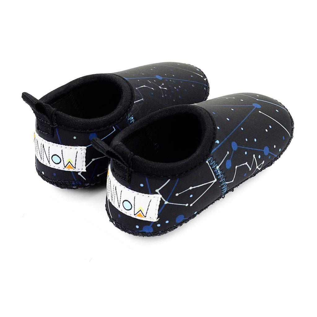 Constellation Toddler Soft Sole Beach Shoe - Chachi's Bay - kids rashies - kids swimwear - kids swim shoes - round towels - beach towels