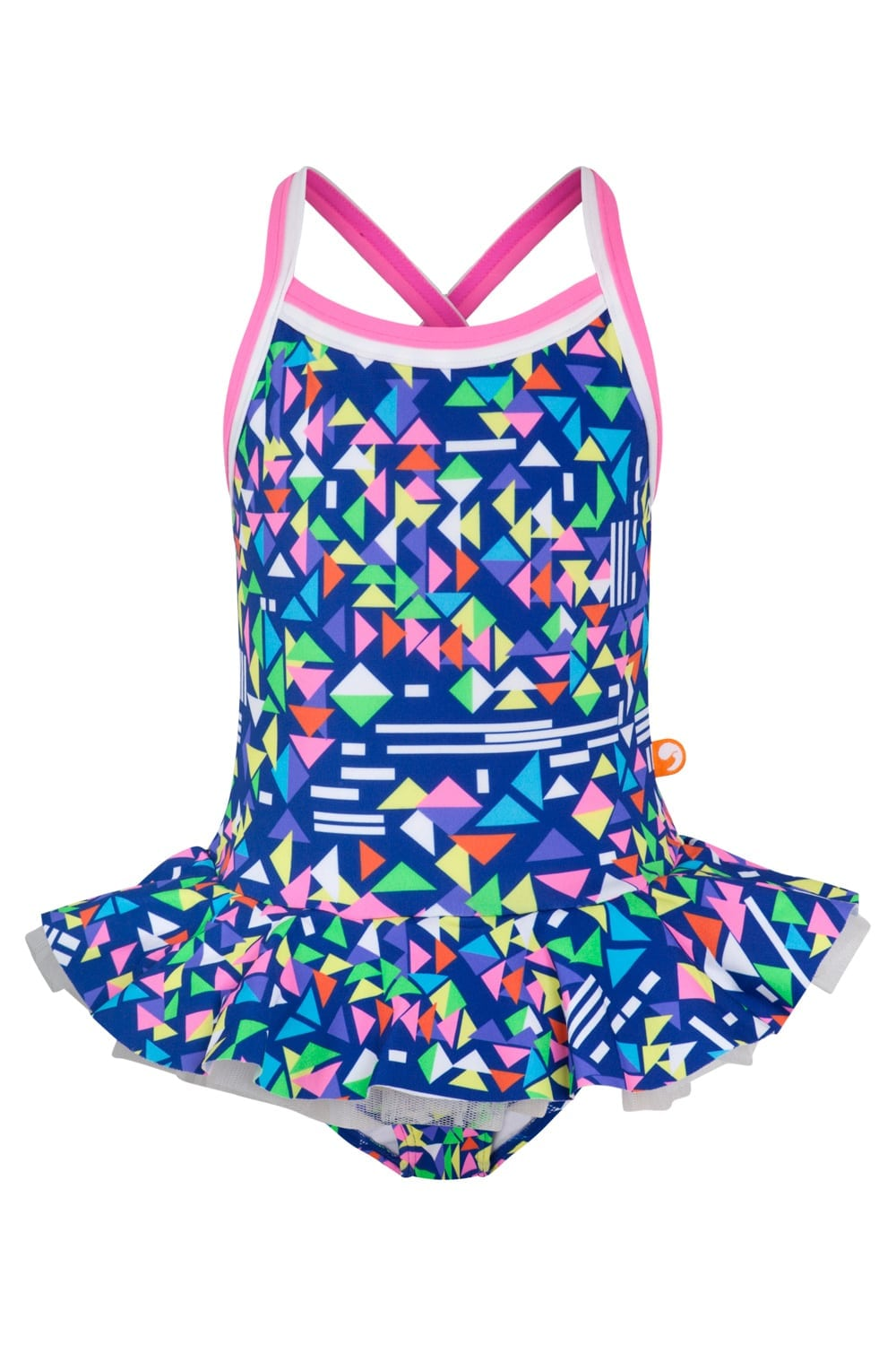 FUSION POP CROSS BACK ONE PIECE (JUNIOR) 50% OFF - Chachi's Bay - kids rashies - kids swimwear - kids swim shoes - round towels - beach towels