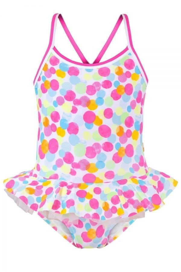 CONFETTI CROSS BACK (JUNIOR) - Chachi's Bay - kids rashies - kids swimwear - kids swim shoes - round towels - beach towels