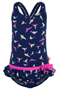 CHEROKEE FRILL ONE PEICE (JUNIOR) 50% OFF - Chachi's Bay - kids rashies - kids swimwear - kids swim shoes - round towels - beach towels