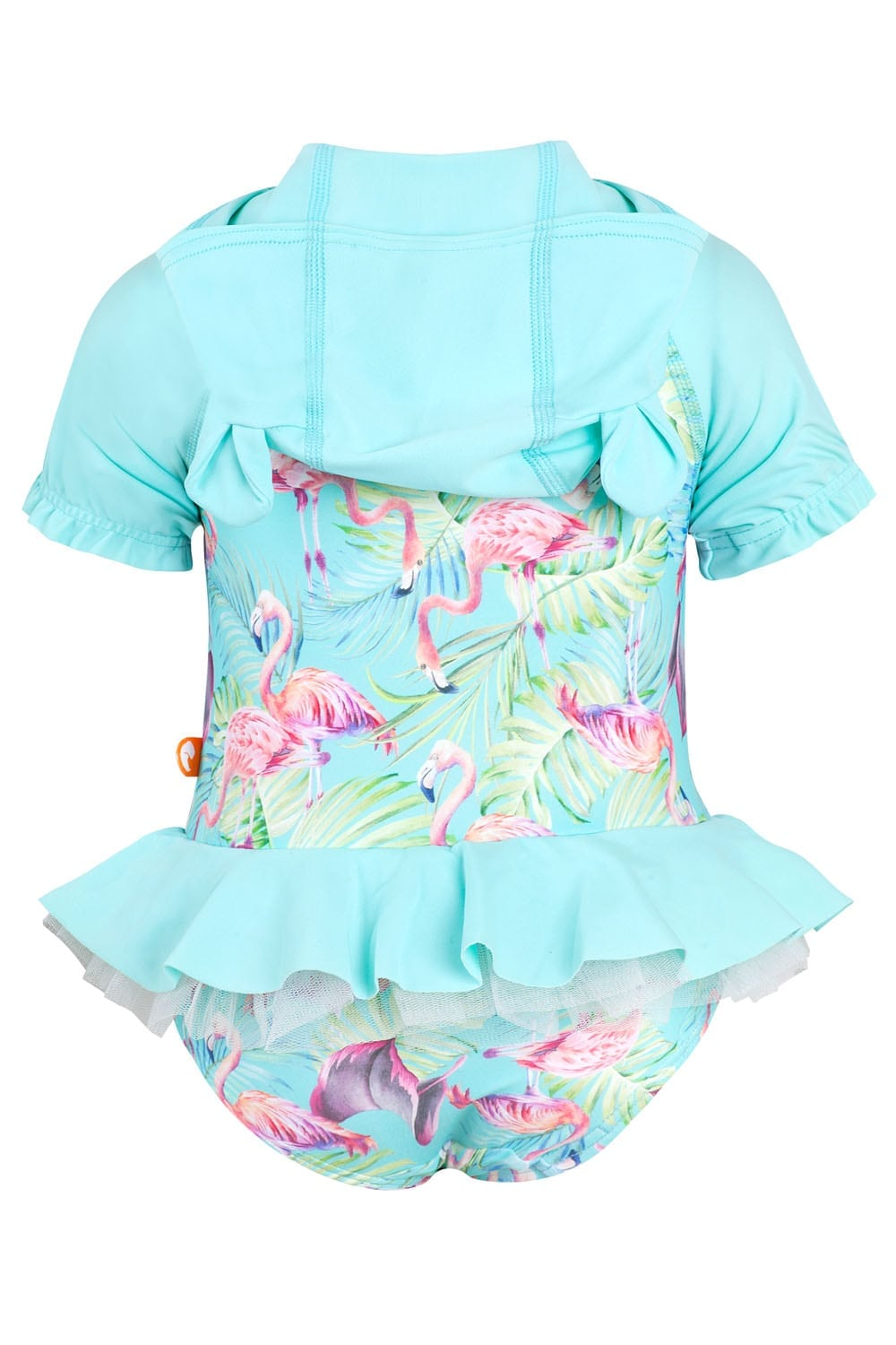 Flamingo Forest Baby Hooded One Piece - Chachi's Bay - kids rashies - kids swimwear - kids swim shoes - round towels - beach towels