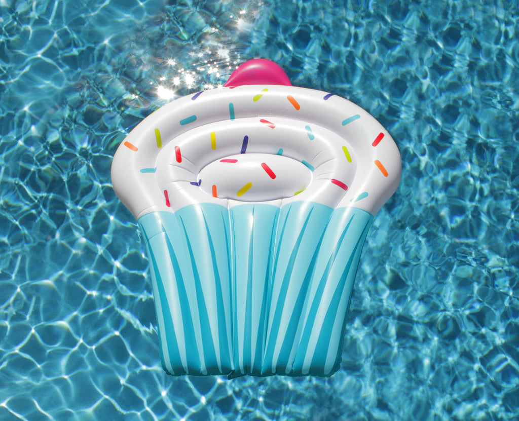 Cupcake Pool Float - Chachi's Bay - kids rashies - kids swimwear - kids swim shoes - round towels - beach towels