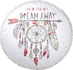 Dreamer Round Towel - Chachi's Bay - kids rashies - kids swimwear - kids swim shoes - round towels - beach towels