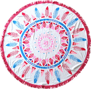 Inca Feathers Round Towels - Chachi's Bay