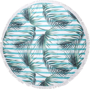 Geo Ferns Round Towel - Chachi's Bay - kids rashies - kids swimwear - kids swim shoes - round towels - beach towels