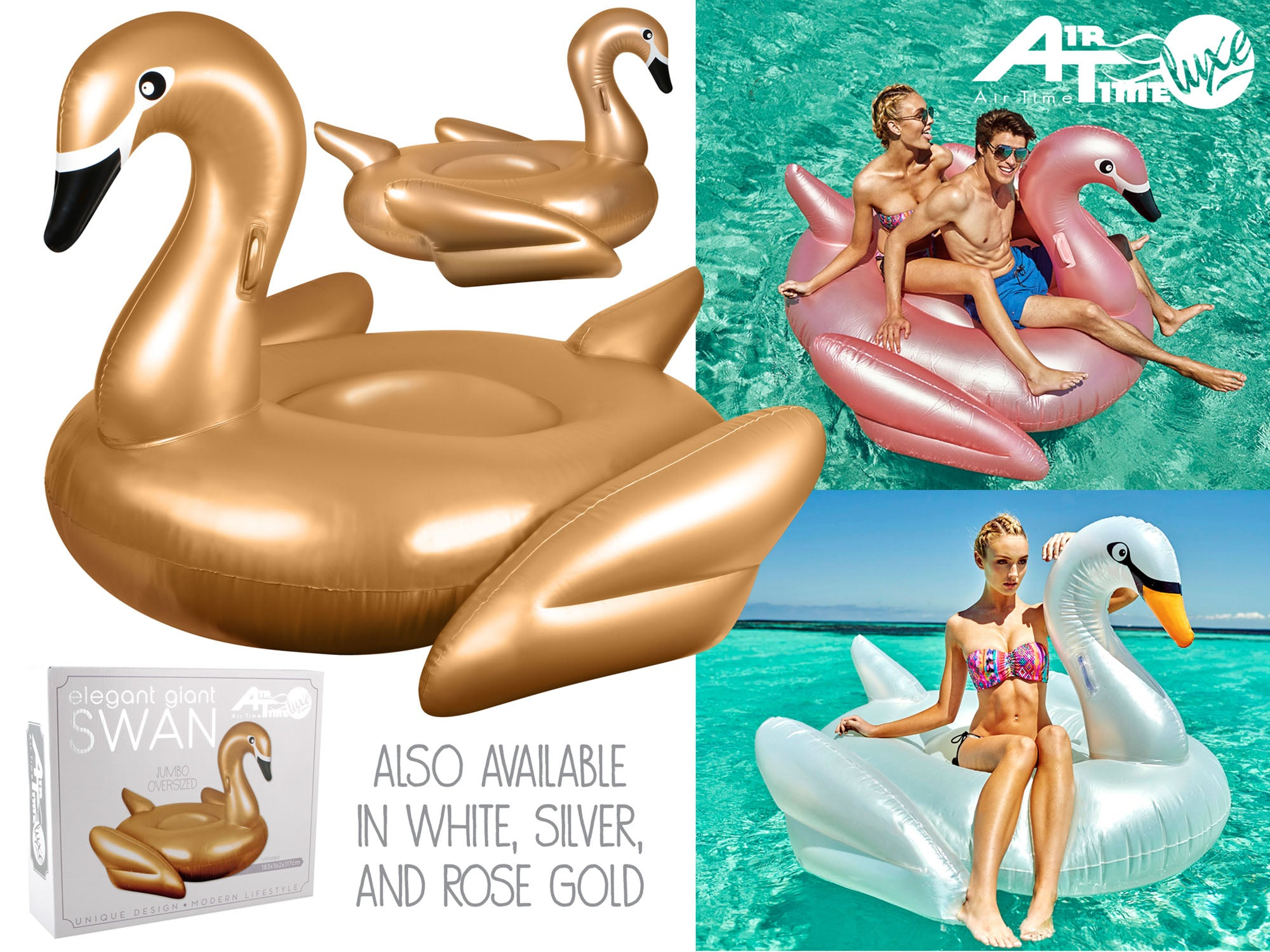 Elegant Swan Float. Assorted Colours. - Chachi's Bay