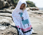 The Frankie Beach Towel Poncho - Chachi's Bay - kids rashies - kids swimwear - kids swim shoes - round towels - beach towels