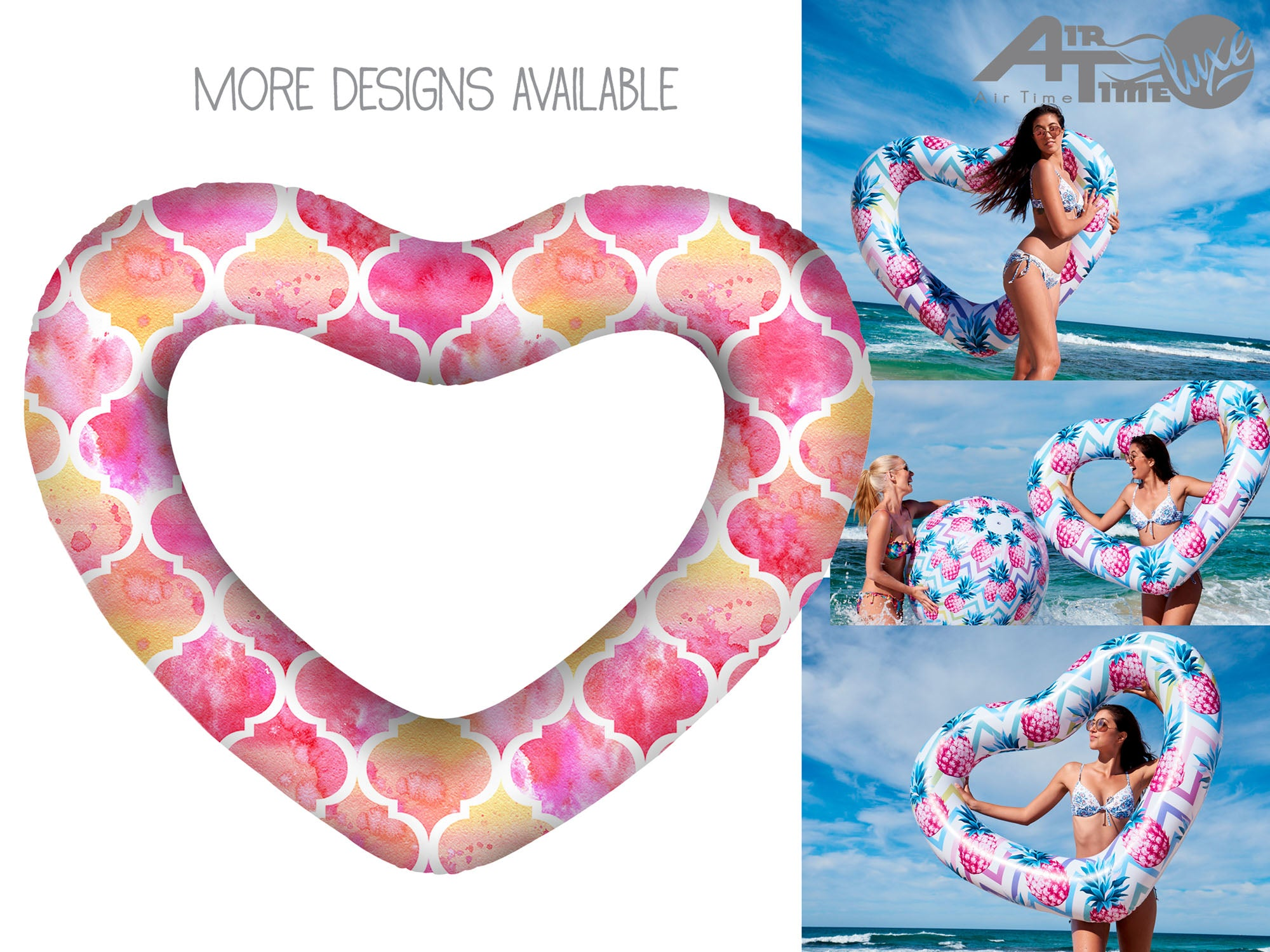 Giant Love Heart Swim Ring. Assorted Designs. - Chachi's Bay - kids rashies - kids swimwear - kids swim shoes - round towels - beach towels