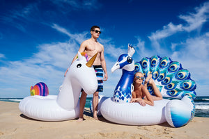 Giant Peacock Inflatable - Chachi's Bay - kids rashies - kids swimwear - kids swim shoes - round towels - beach towels
