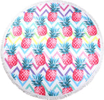 Geo Pineapples Round Towels - Chachi's Bay - kids rashies - kids swimwear - kids swim shoes - round towels - beach towels