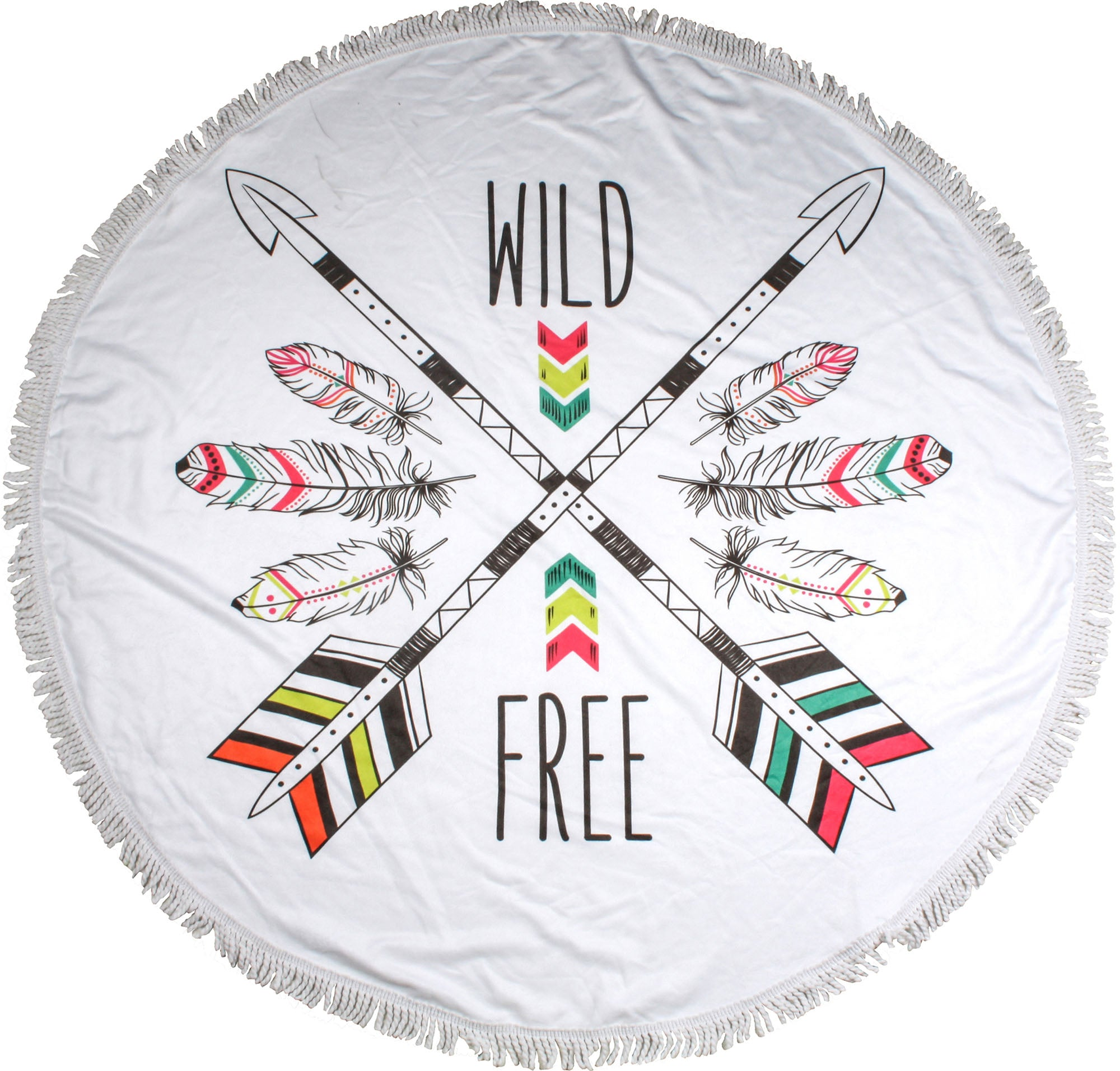 Wild and Free Round Towels - Chachi's Bay - kids rashies - kids swimwear - kids swim shoes - round towels - beach towels