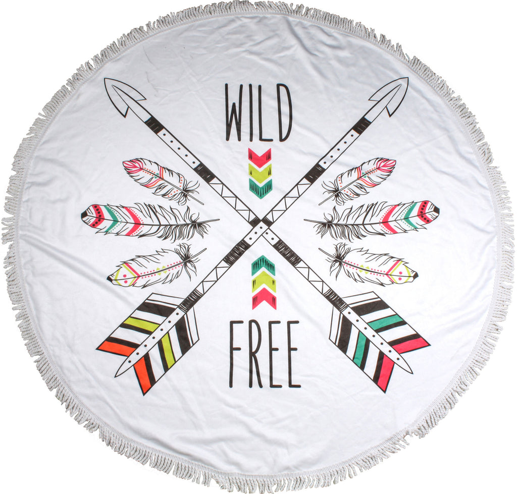 Wild and Free Round Towels - Chachi's Bay