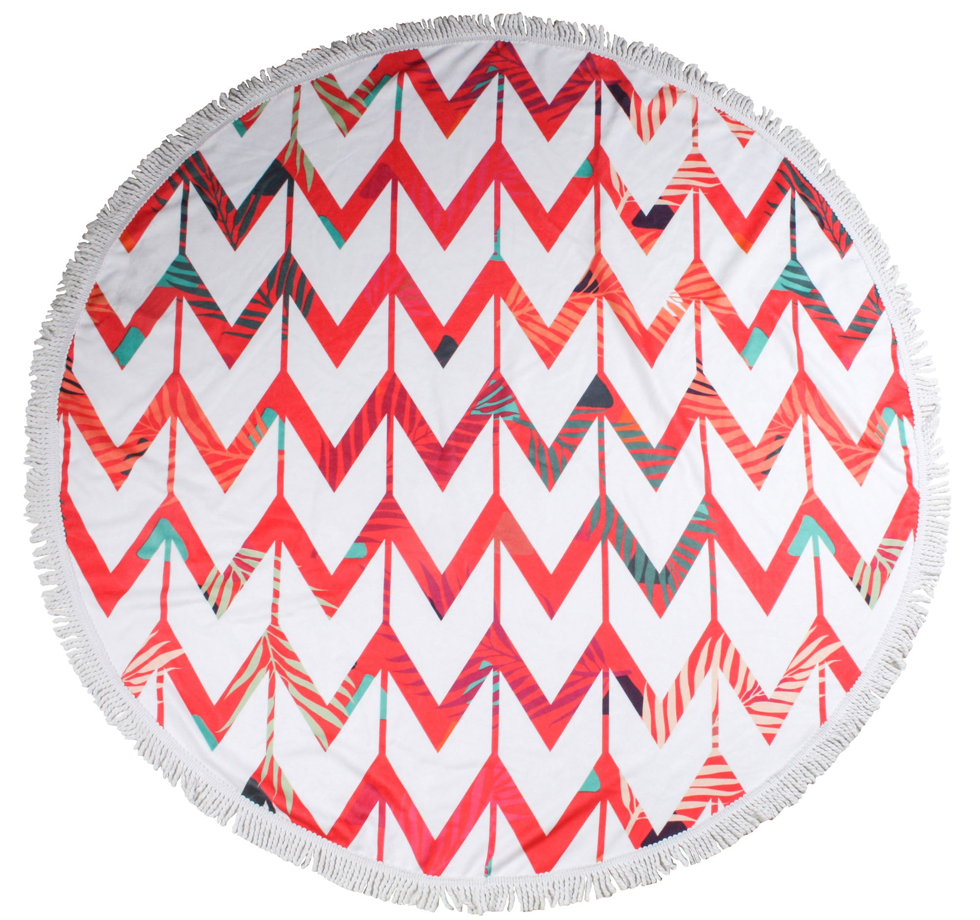 Zig Zag Round Towels - Chachi's Bay - kids rashies - kids swimwear - kids swim shoes - round towels - beach towels