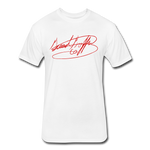Big Signature Fitted T-Shirt - white