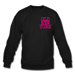 Old New York (neon) Crewneck Sweatshirt - black