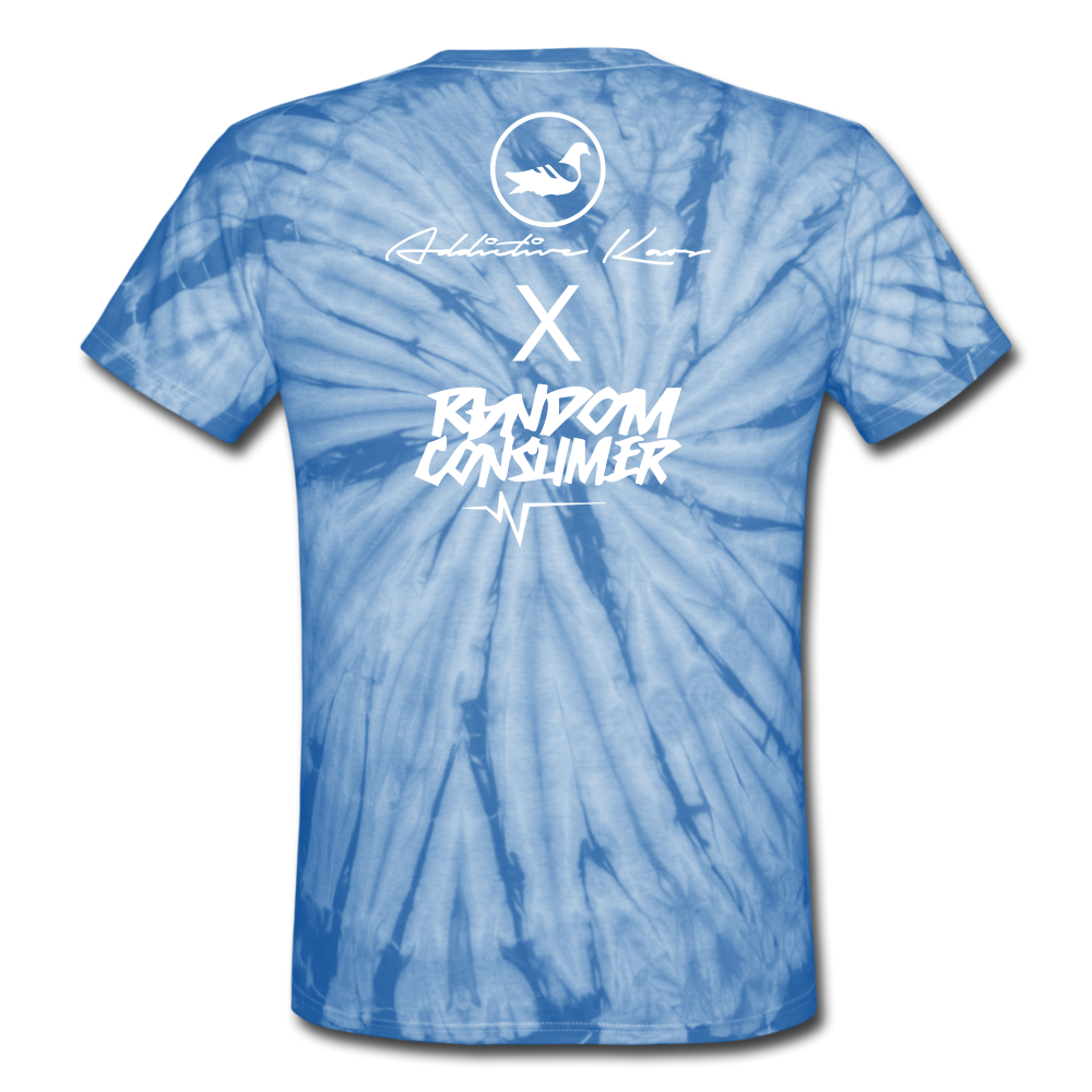RanCon X Addictive Kaos Collab 1 Tie Dye T-Shirt - spider baby blue