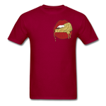 Ocean Lust Men's T-Shirt(GLD) - dark red