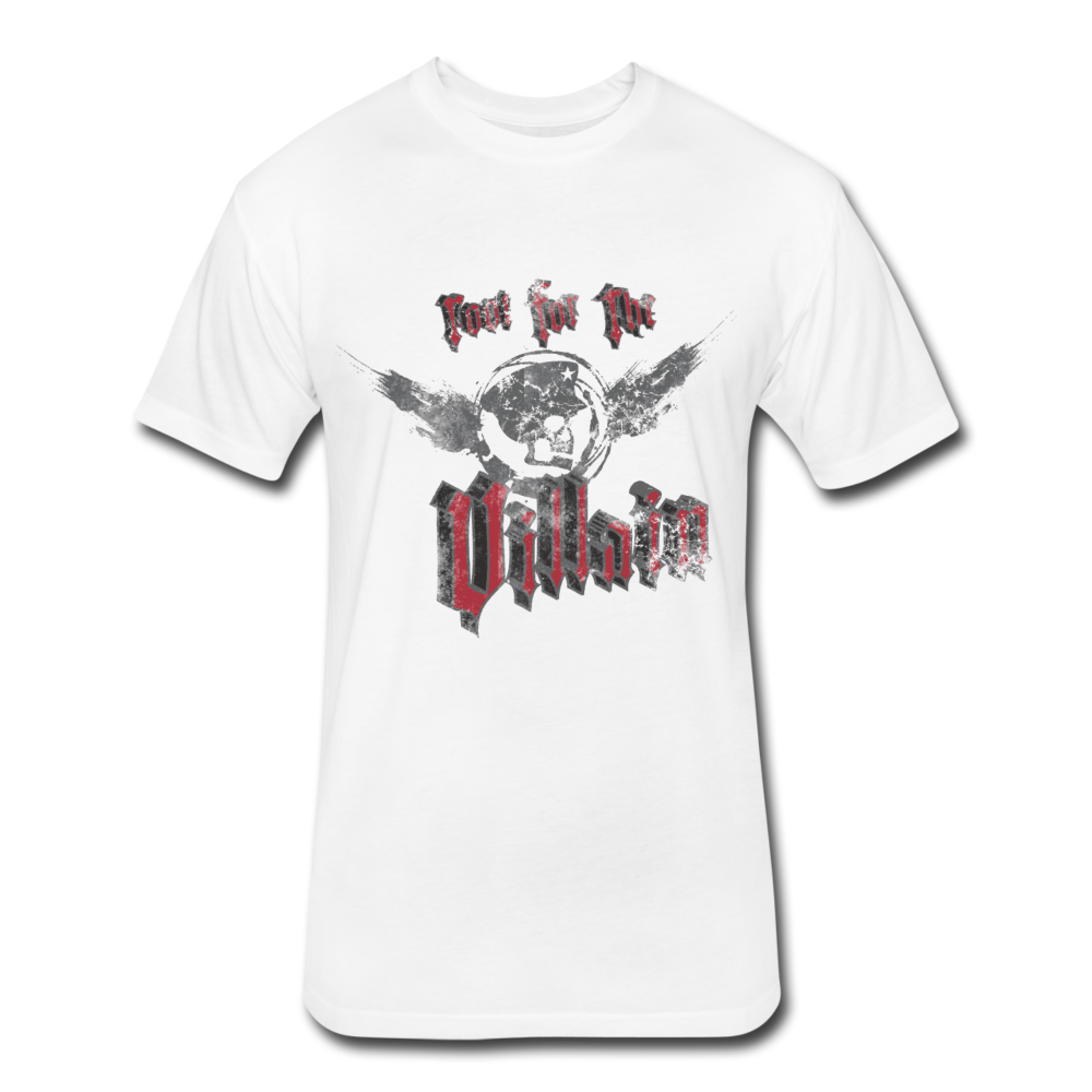 Root For the Villain vintage Fitted  T-Shirt - white