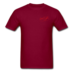 AK Signature Men's T-Shirt - burgundy