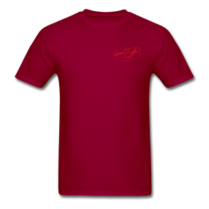 AK Signature Men's T-Shirt - dark red