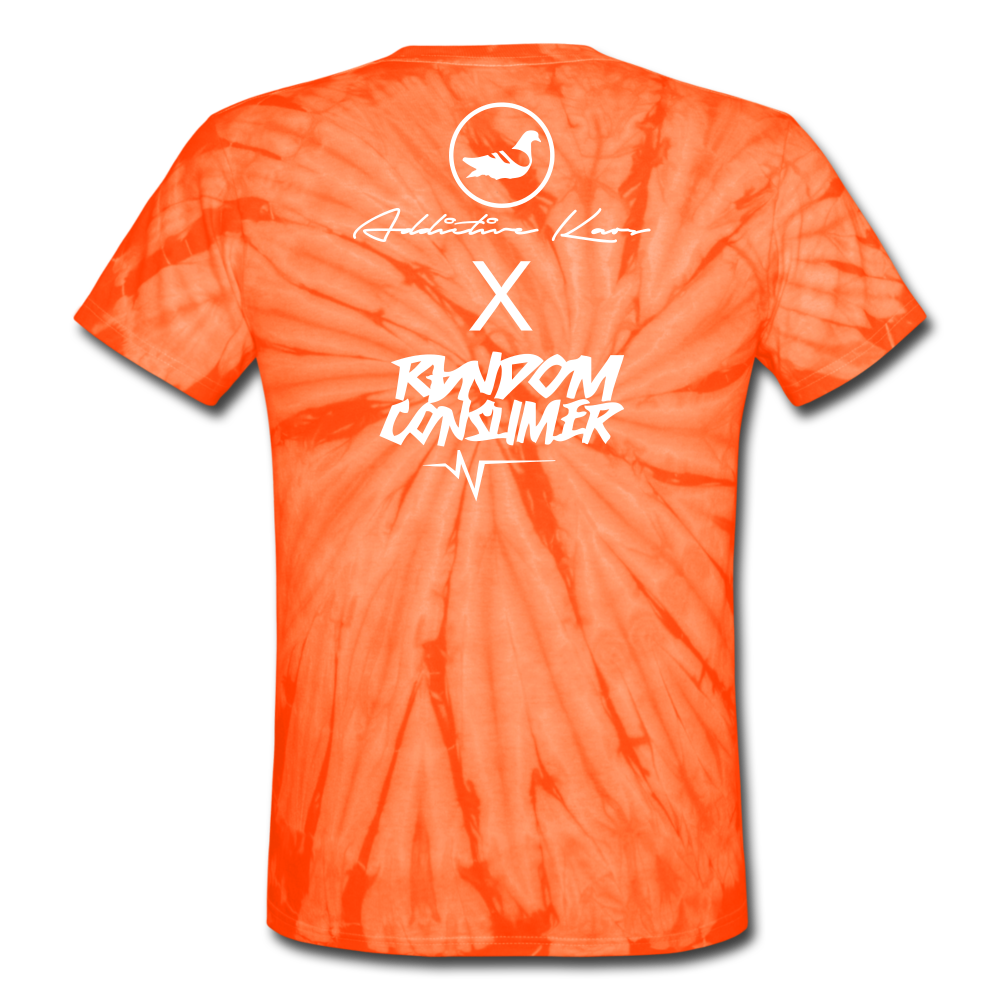 RanCon X Addictive Kaos Collab 1 Tie Dye T-Shirt - spider orange