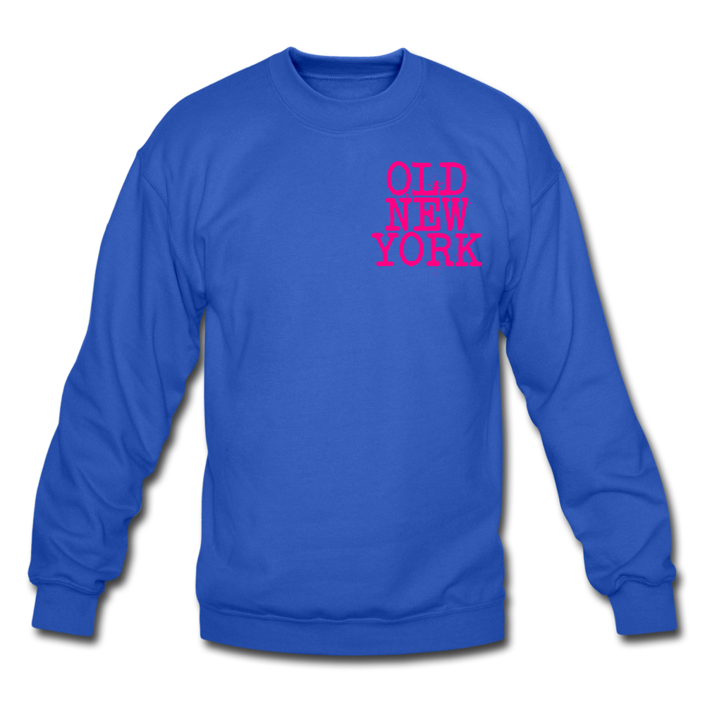 Old New York (neon) Crewneck Sweatshirt - royal blue