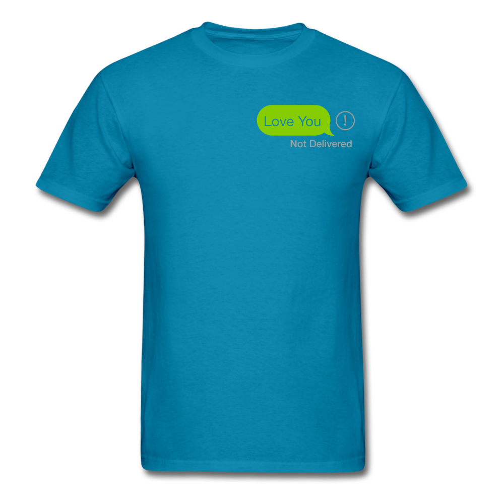 Love You T-Shirt - turquoise