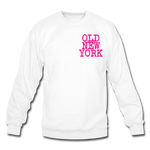 Old New York (neon) Crewneck Sweatshirt - white