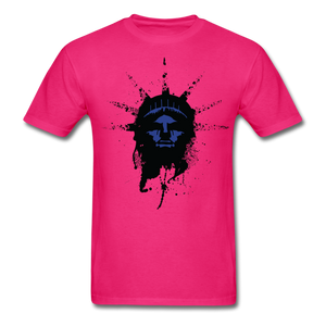 Liberty Of Kaos (Blue) T-Shirt - fuchsia