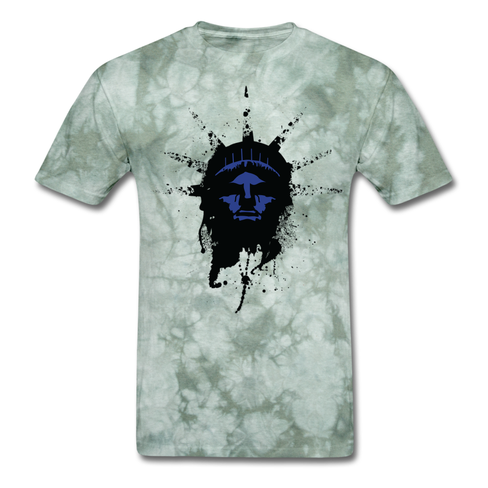 Liberty Of Kaos (Blue) T-Shirt - military green tie dye