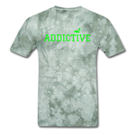Addictive Neon T-Shirt - military green tie dye