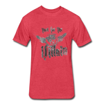 Root For the Villain vintage Fitted  T-Shirt - heather red