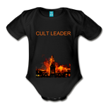 CULT LEADER Short Sleeve Baby Bodysuit - black