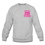 Old New York (neon) Crewneck Sweatshirt - heather gray