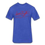 Big Signature Fitted T-Shirt - heather royal