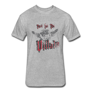 Root For the Villain vintage Fitted  T-Shirt - heather gray