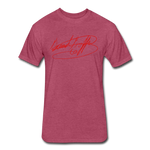 Big Signature Fitted T-Shirt - heather burgundy