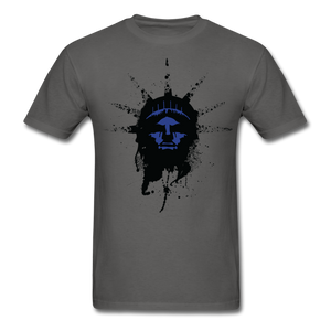 Liberty Of Kaos (Blue) T-Shirt - charcoal