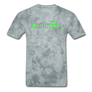 Addictive Neon T-Shirt - grey tie dye