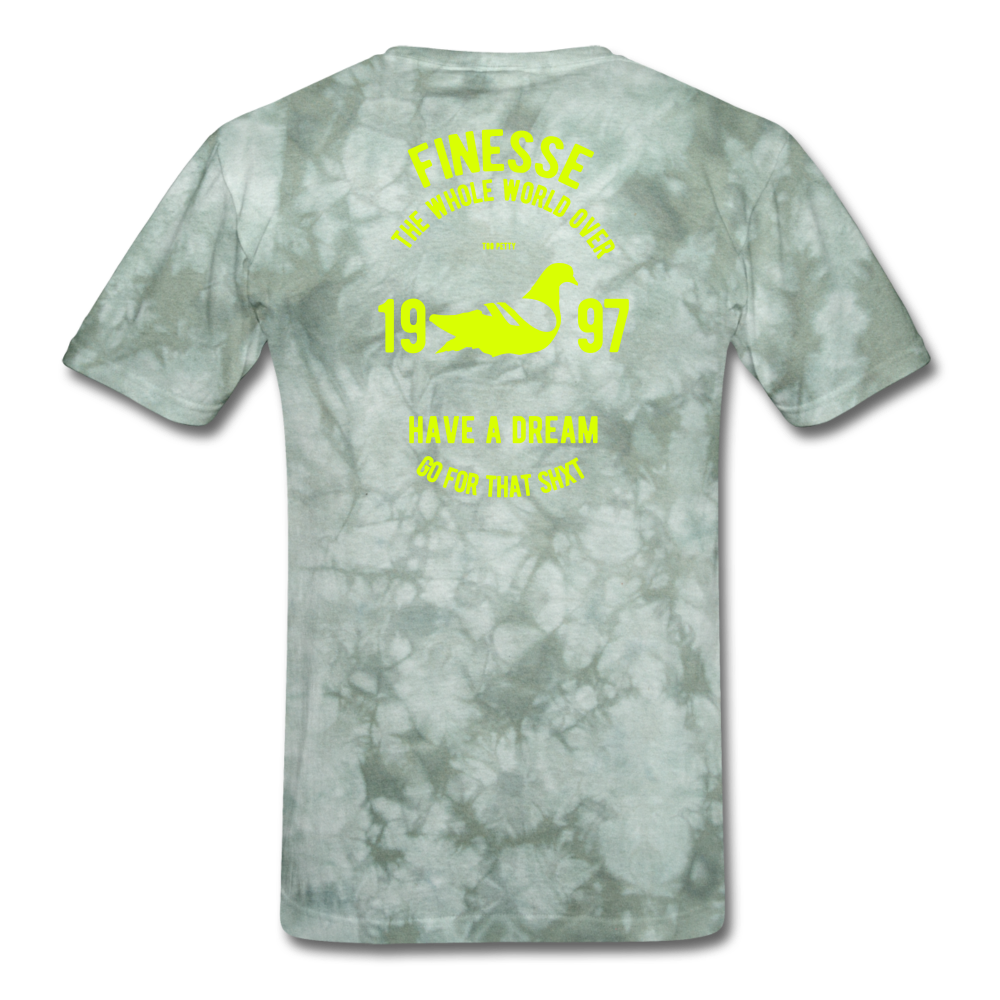 Finesse Sport T-Shirt - military green tie dye