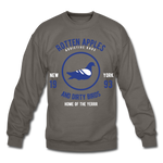 Rotten Apples and Dirty Birds Crewneck Sweatshirt - asphalt gray