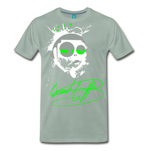 Toon Head Premium T-Shirt - steel green