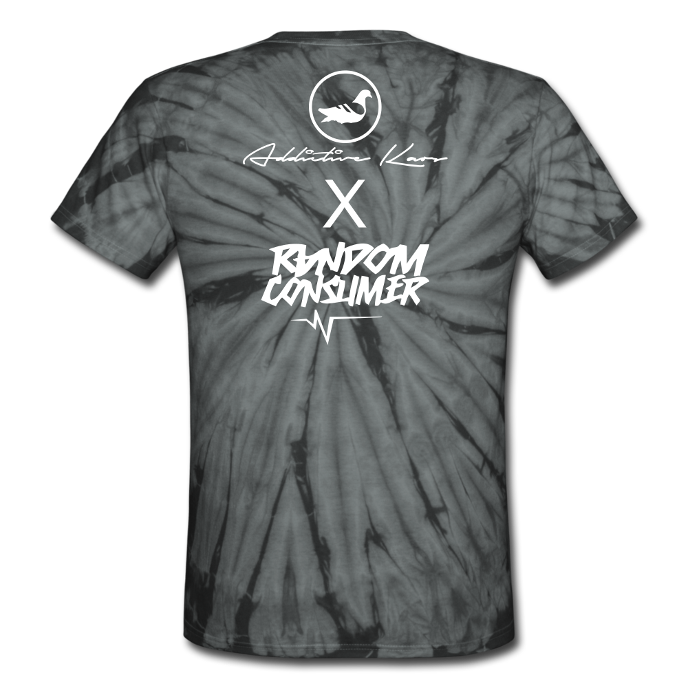 RanCon X Addictive Kaos Collab 1 Tie Dye T-Shirt - spider black