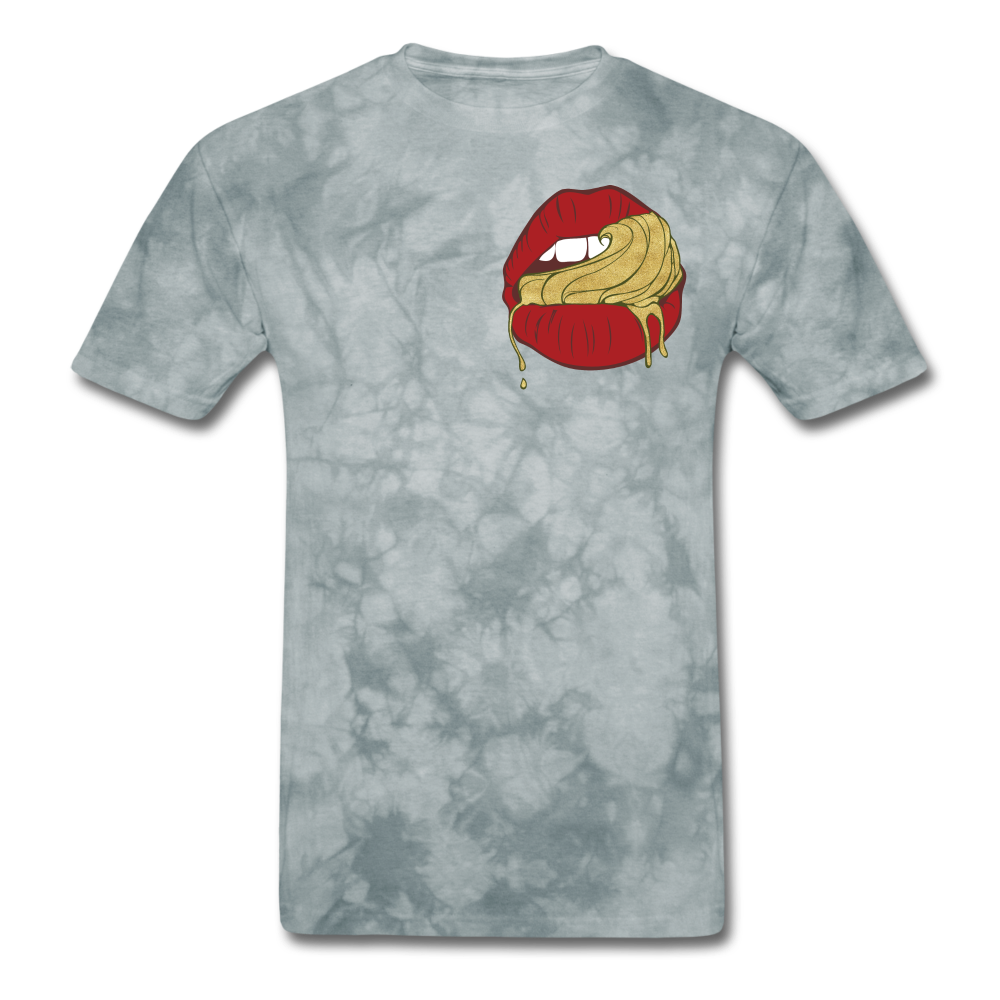 Ocean Lust Men's T-Shirt(GLD) - grey tie dye