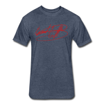 Big Signature Fitted T-Shirt - heather navy