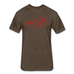 Big Signature Fitted T-Shirt - heather espresso