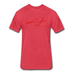 Big Signature Fitted T-Shirt - heather red