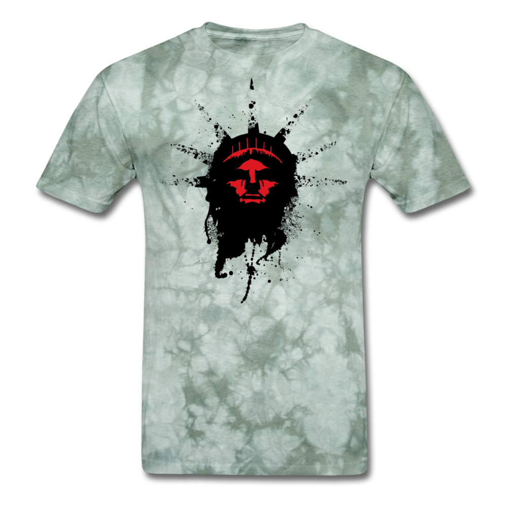 Liberty Of Kaos T-Shirt (RED) - military green tie dye